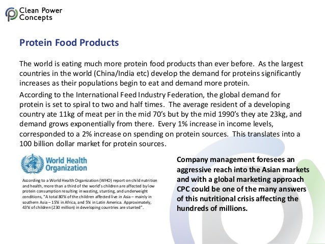 Protein Food Products The world is eating much more protein food products than ever before. As the largest countries in th...