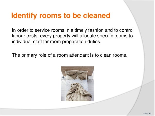 Slide 58 59 Identify Rooms To Be Cleaned In