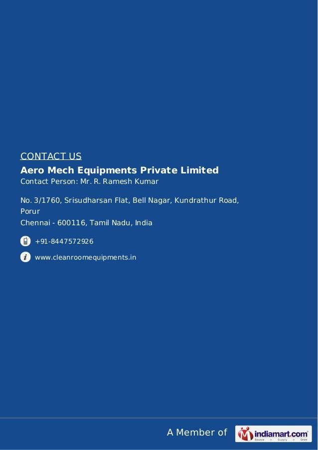 Aero Mech Equipments Private Limited Chennai Biosafety