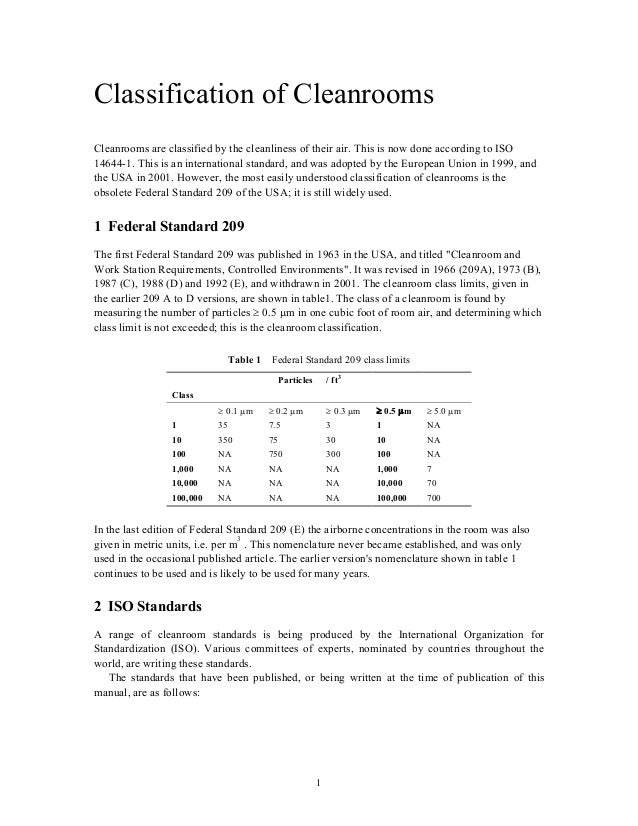 iso 14644 1 cleanroom standards pdf