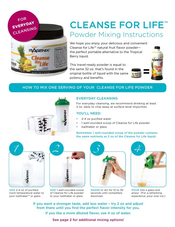 for   E VERY          DAY          sing                                              cleanse for life™     lean   c       ...