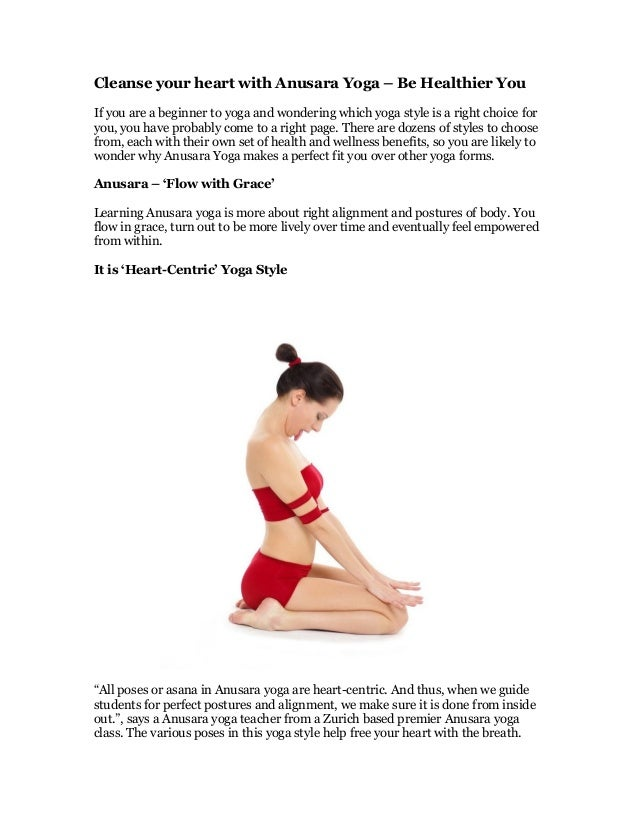 Cleanse Your Heart With Anusara Yoga Be Healthier You