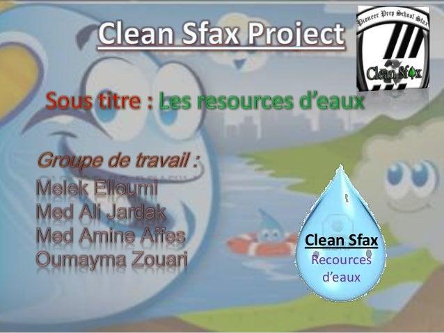 Clean Sfax Recources d'eaux