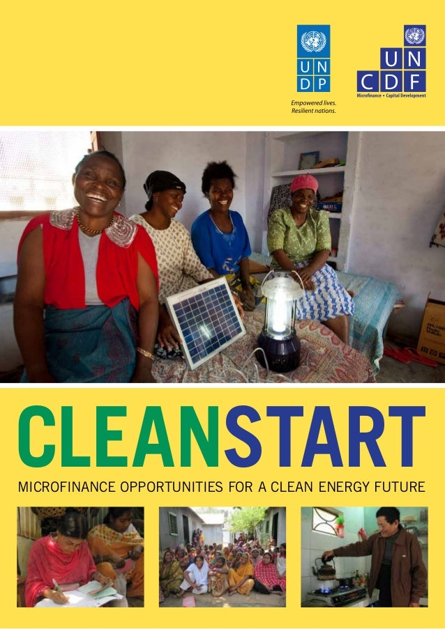 CleanStartMicrofinance Opportunities for A Clean Energy Future