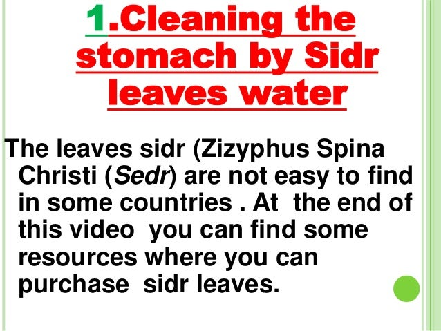 How to clean the stomach from any effect of sihr(magic)