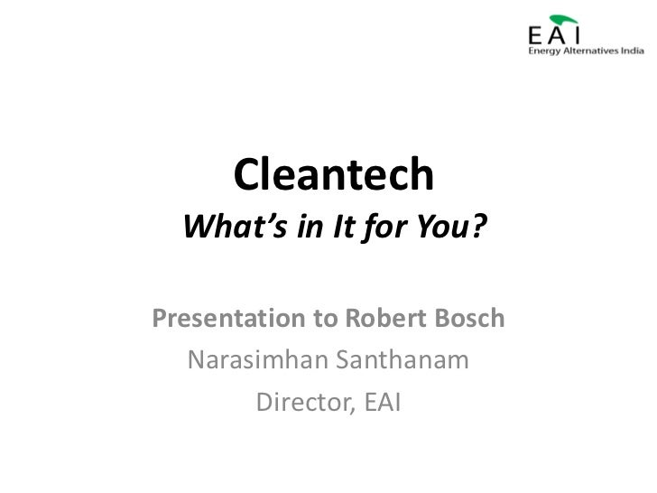 Cleantech and renewable energy   and why you should care