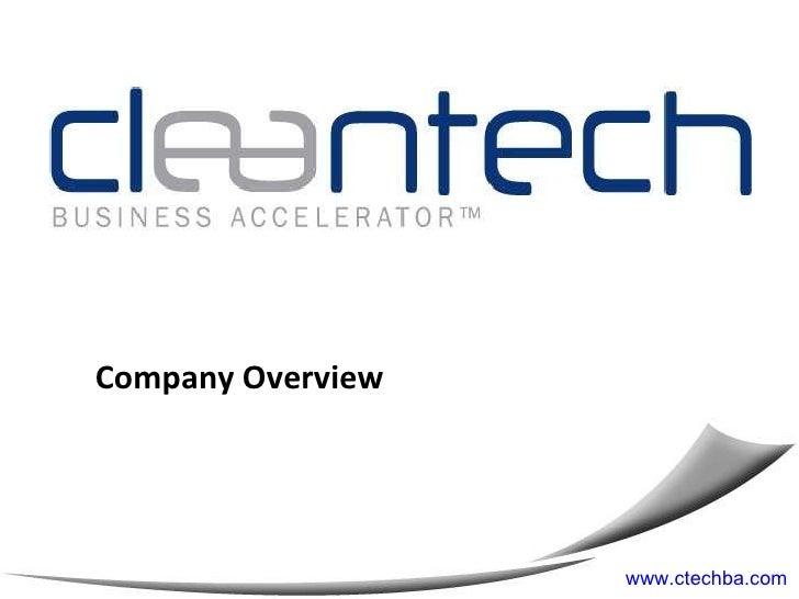 Company Overview www.ctechba.com