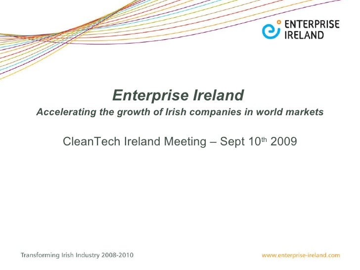 Enterprise Ireland – CleanTech Focus