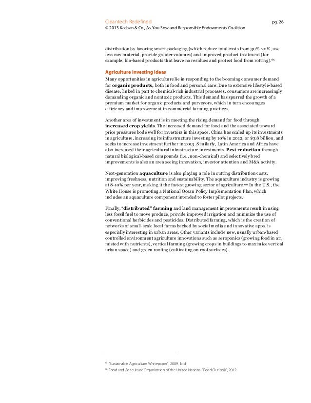 Cleantech Redefined  pg. 26  © 2013 Kachan & Co., As You Sow and Responsible Endowments Coalition  distribution by favorin...