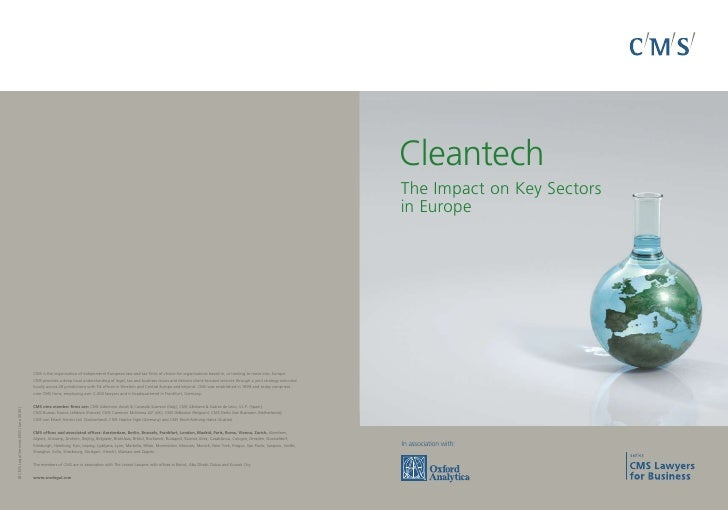 Cleantech The Impact on Key Sectors in Europe     In association with: