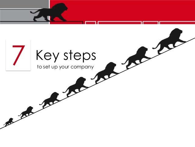 7 Key stepsto set up your company