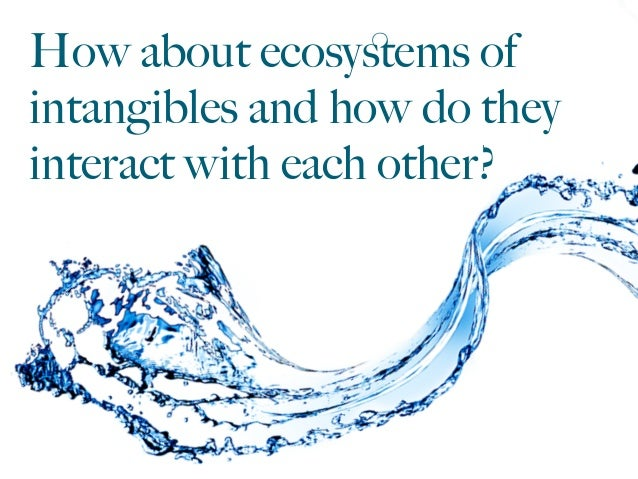 How about ecosystems of intangibles and how do they interact with each other?