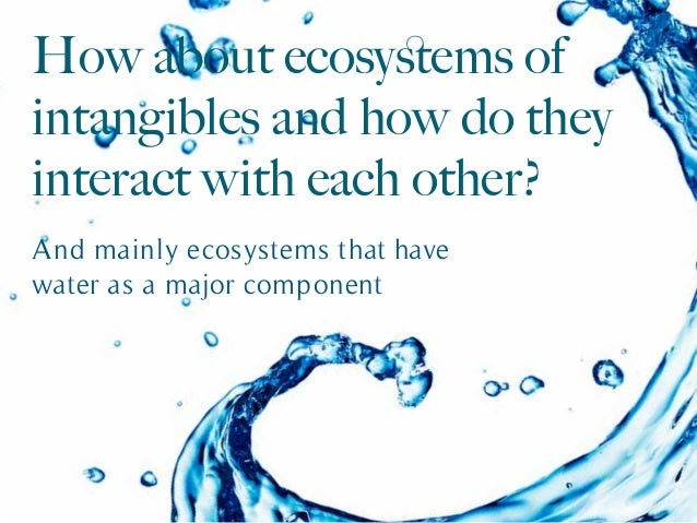 And mainly ecosystems that have water as a major component How about ecosystems of intangibles and how do they interact wit...
