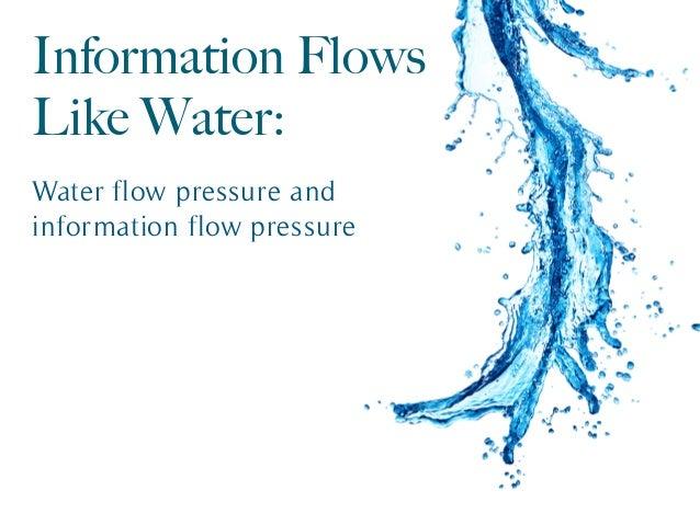 Information Flows Like Water: Water flow pressure and information flow pressure