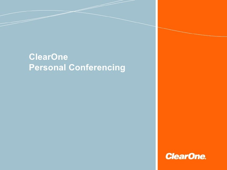 ClearOne  Personal Conferencing