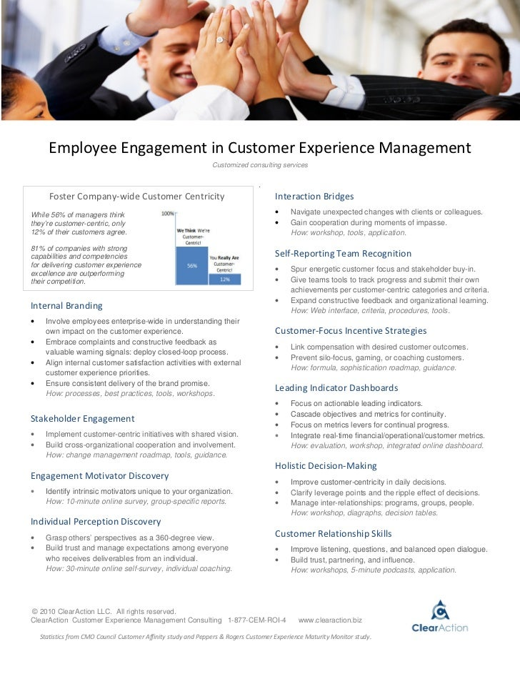Employee Engagement in Customer Experience Management                                                                Custo...