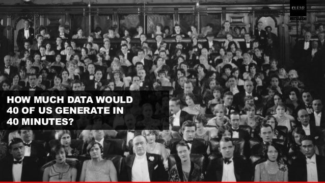 2  HOW MUCH DATA WOULD  40 OF US GENERATE IN  40 MINUTES?