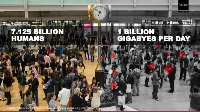 4  1 BILLION  GIGABYES PER DAY  7.125 BILLION  HUMANS  SOURCE: http://www-01.ibm.com/software/data/bigdata/what-is-big-dat...