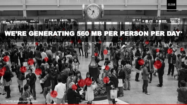 WE'RE GENERATING 560 MB PER PERSON PER DAY*  5  *NOTE: In developed countries