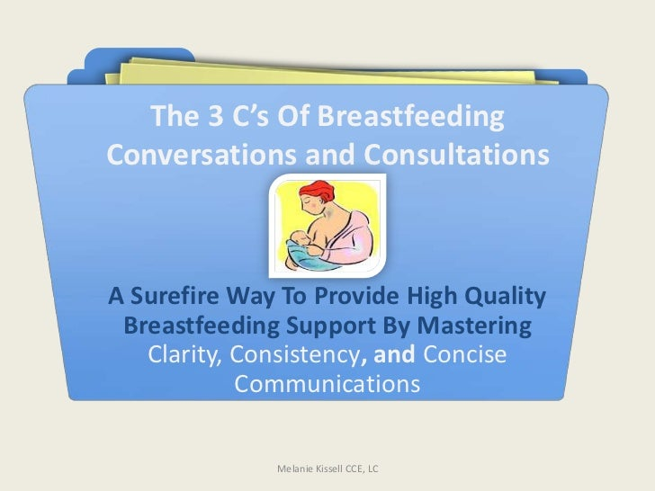 The 3 C's Of BreastfeedingConversations and ConsultationsA Surefire Way To Provide High Quality Breastfeeding Support By M...
