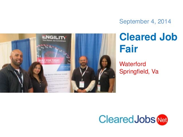 sept 4 cleared job fair  security clearance