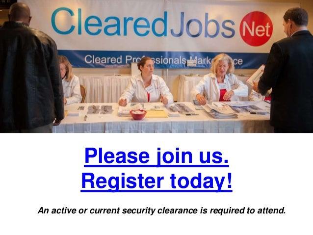 february 4 cleared job fair  security clearance briefings
