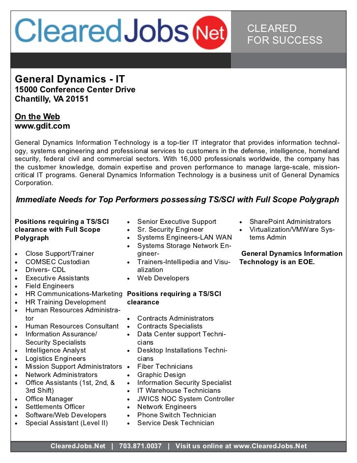 Cleared Job Fair Job Seeker Handbook Feb 3, 2011, Tysons
