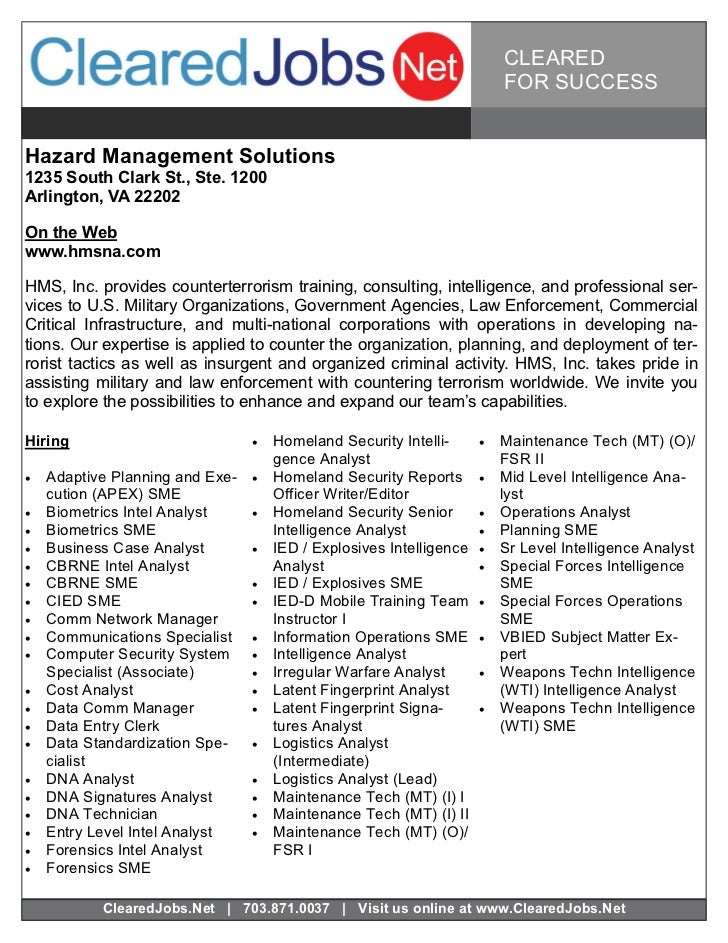 CLEARED                                                                            FOR SUCCESSHazard Management Solutions1...