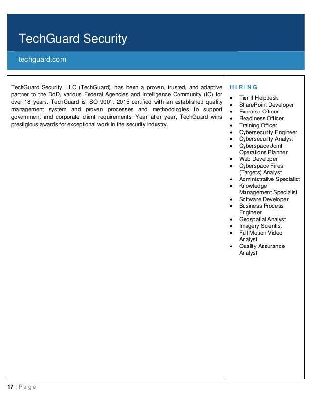 Cleared Job Fair Job Seeker Handbook March 7, BWI, MD