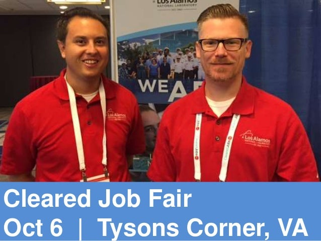 Cleared Job Fair Oct 6 | Tysons Corner, VA