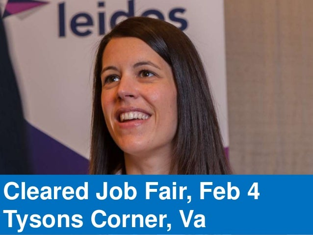 Cleared Job Fair, Feb 4 Tysons Corner, Va