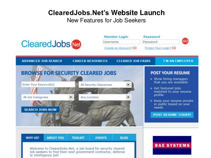ClearedJobs.Net's Website Launch     New Features for Job Seekers