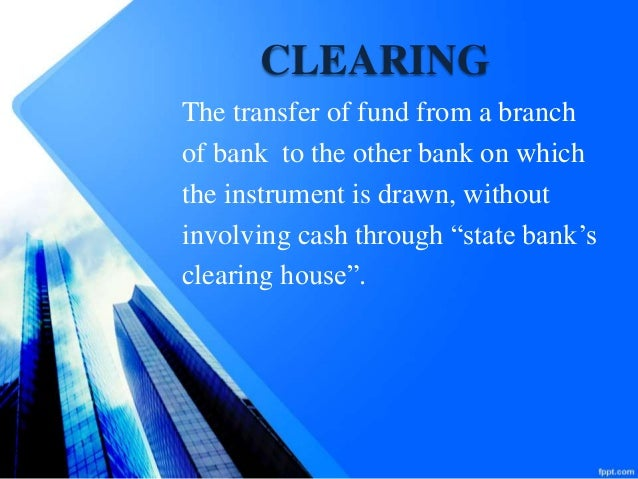 Cheque Clearing Nift Processing