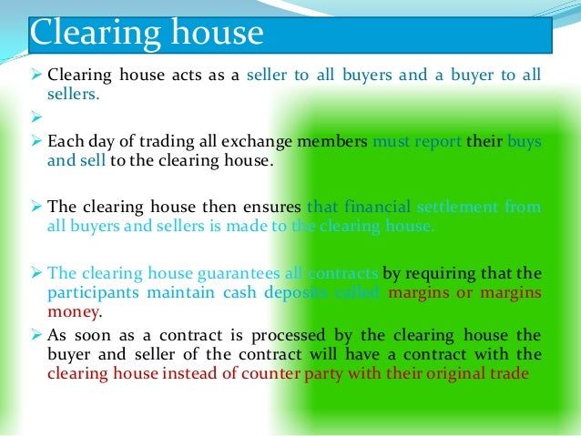 Clearing And Settlement On Commodity Exchange