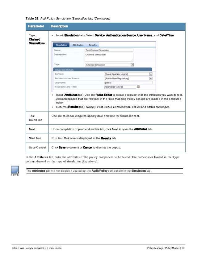 ClearPass Policy Manager 6 3 User Guide