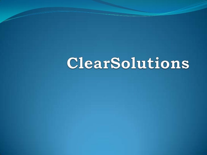 ClearSolutions<br />