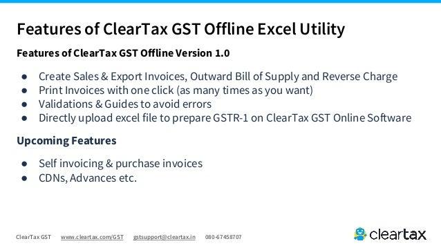 Cleartax Gst Offline Guide