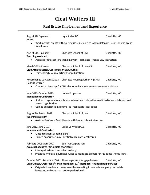 job specific resume template