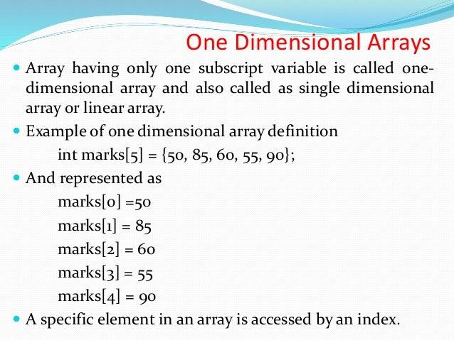 C Programming Arrays