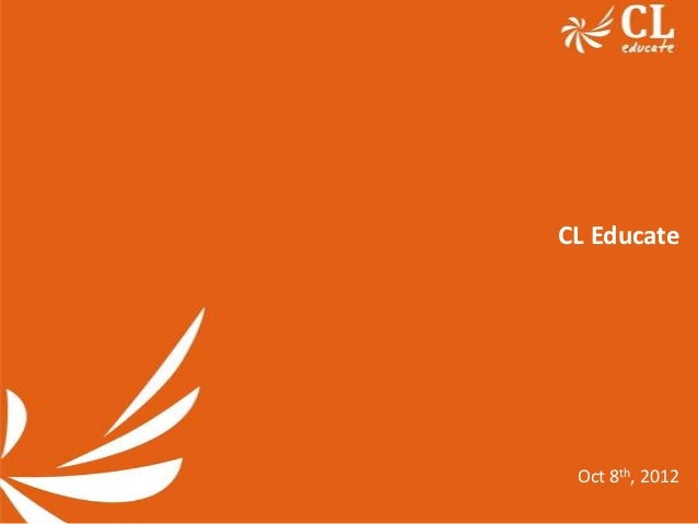 CL Educate Oct 8th, 2012