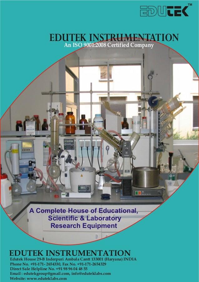 Edutek Instrumentation, Ambala, Scientific and Laboratory Instruments