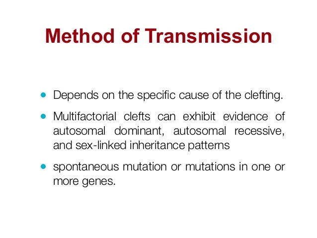 Cleft palate sex linked or autosomal