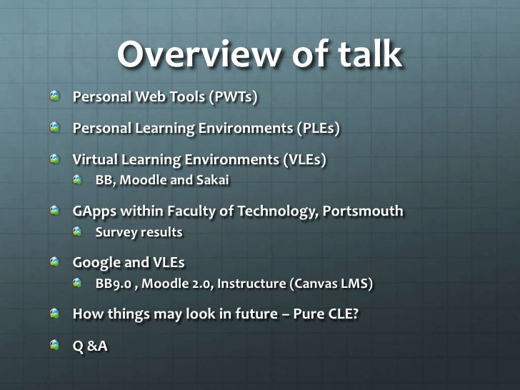 Cloud Learning Environments - Google Apps UK User Group Slide 2