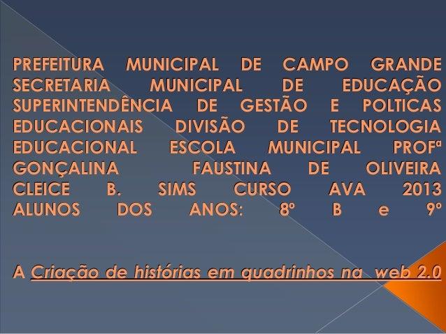 PREFEITURA MUNICIPAL DE CAMPO GRANDE SECRETARIA MUNICIPAL DE EDUCAÇÃO SUPERINTENDÊNCIA DE GESTÃO E POLTICAS EDUCACIONAIS D...