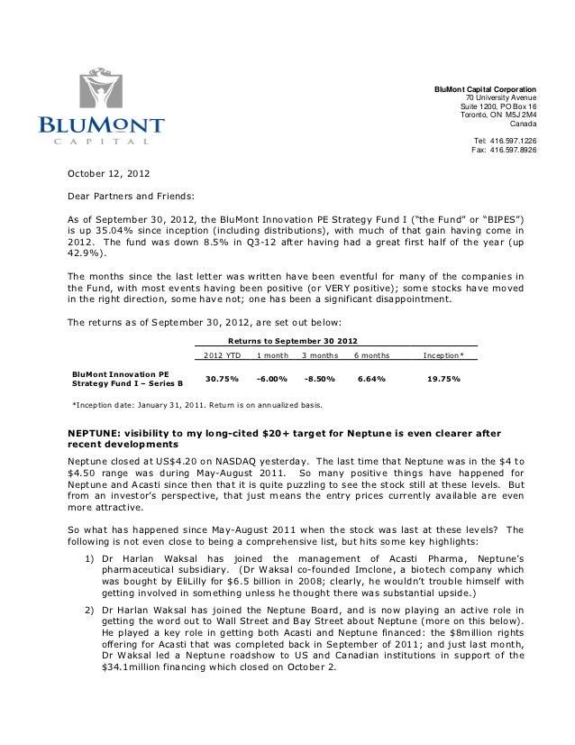 BluMont Capital Corporation                                                                                           70 U...