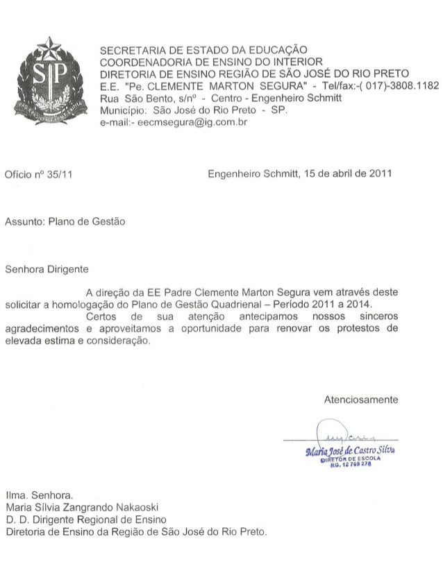 Plano Gestão EE Pe Clemente Marton Segura