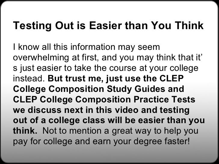 Clep testing study guides free