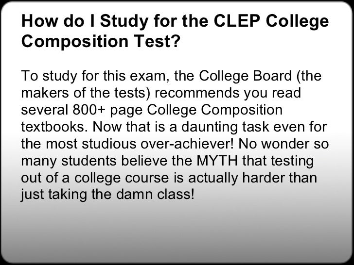 free college composition clep study guides free college composition rh slideshare net Biology CLEP Study Guide Biology CLEP Study Guide