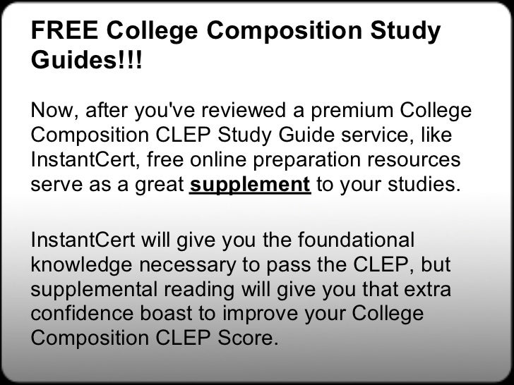 Clep english comp with essay