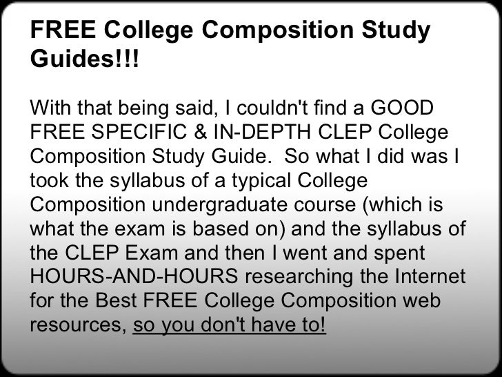 college composition clep study guides college composition  53 college composition studyguides